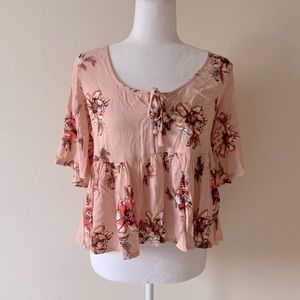 LF SEEK THE LABEL floral blouse NWT
